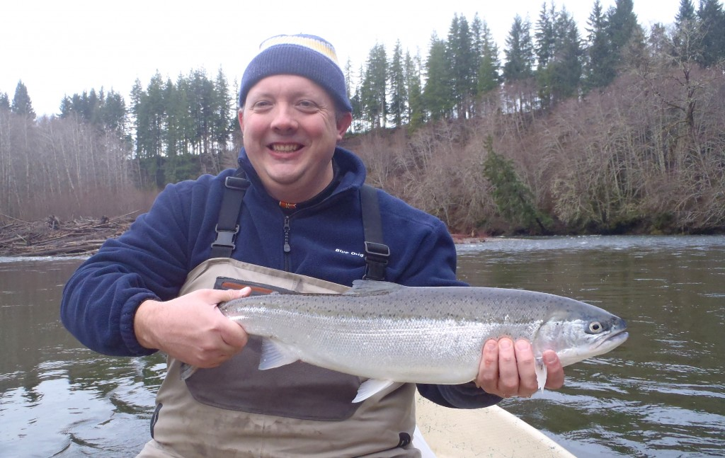 This steelhead of John's required a higher than usual amount of guide involvement