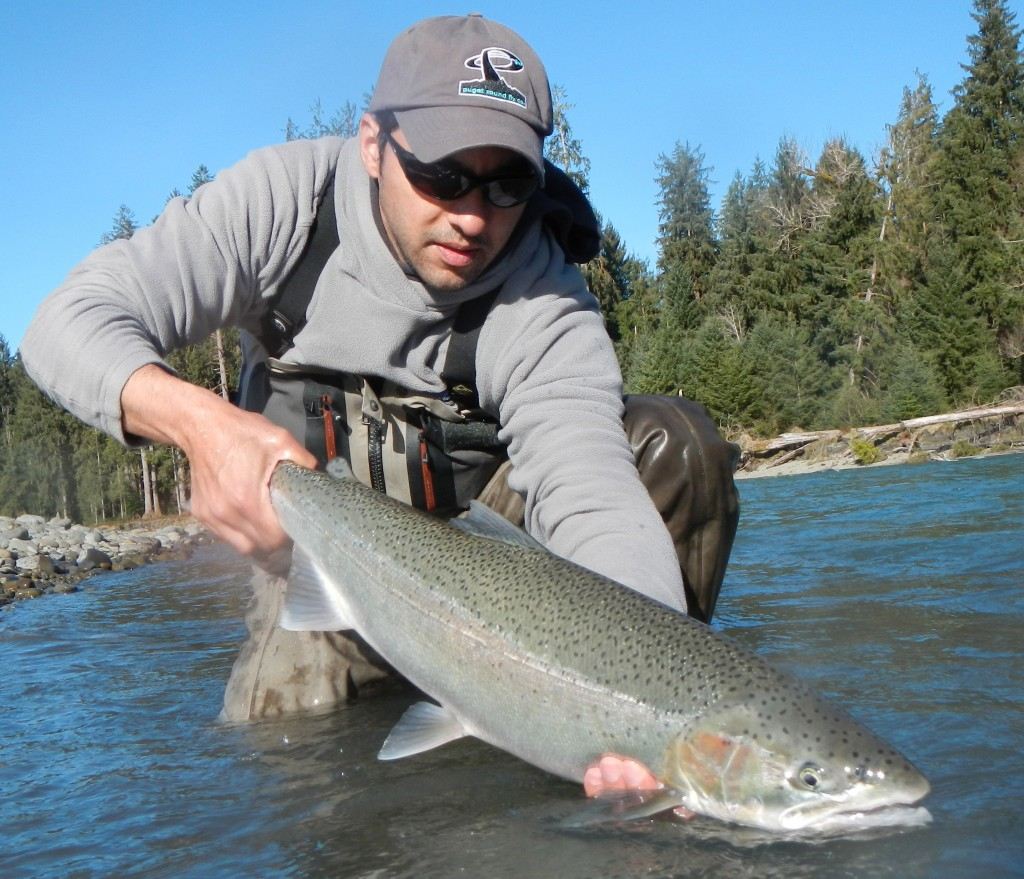 Anil with a early April steelhead