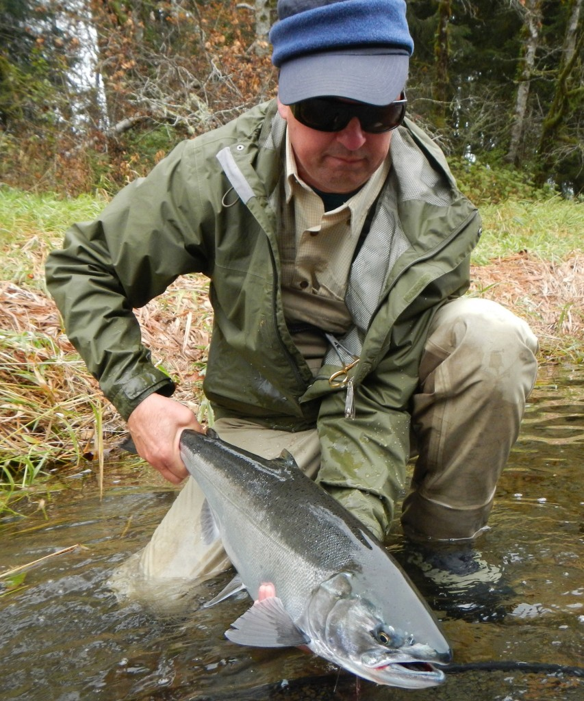 Mike with one of many bright coho