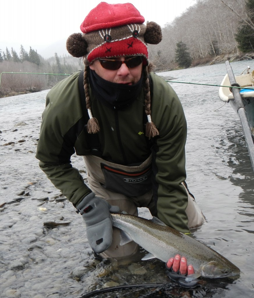 You would not believe how long it took this sock monkey to catch this steelhead
