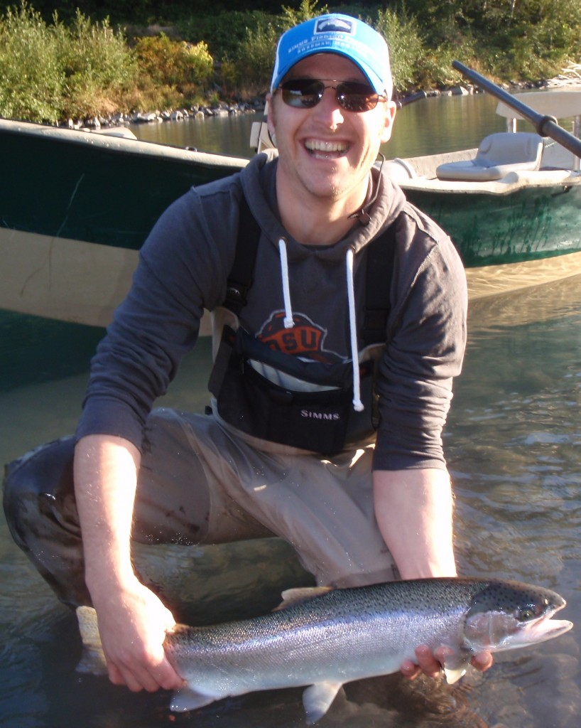 Brad gets it right and lands a nice summer steelhead
