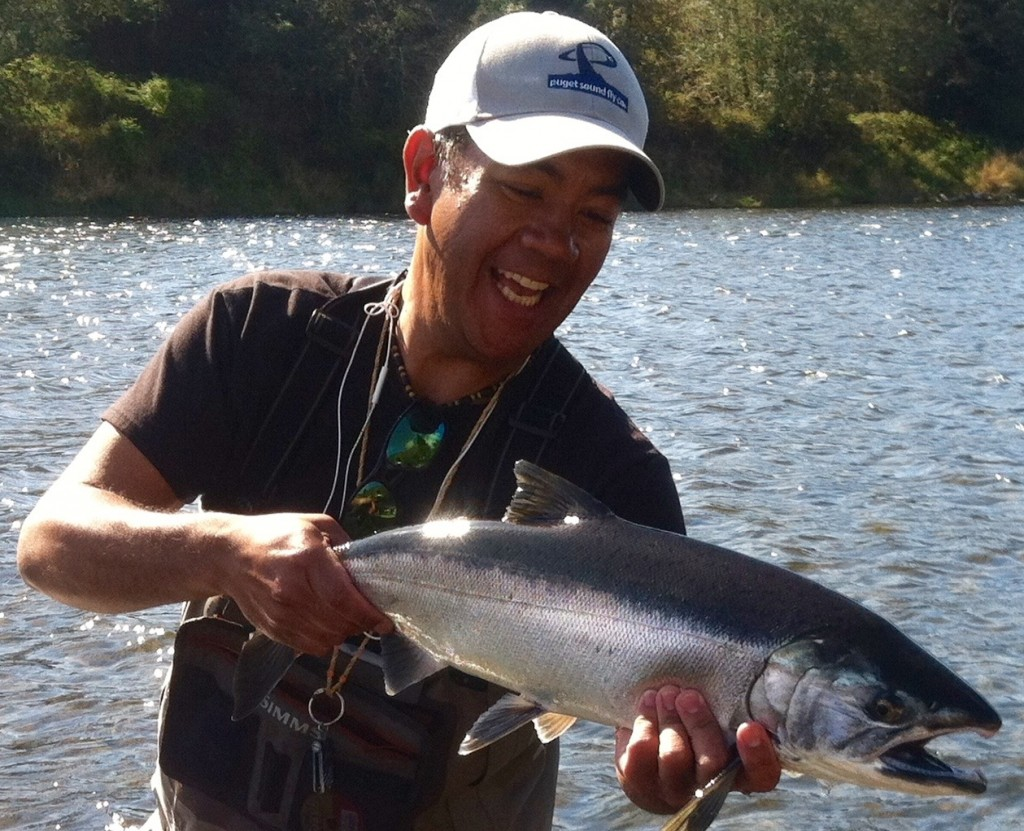 Dan with a nice hatchery fall coho