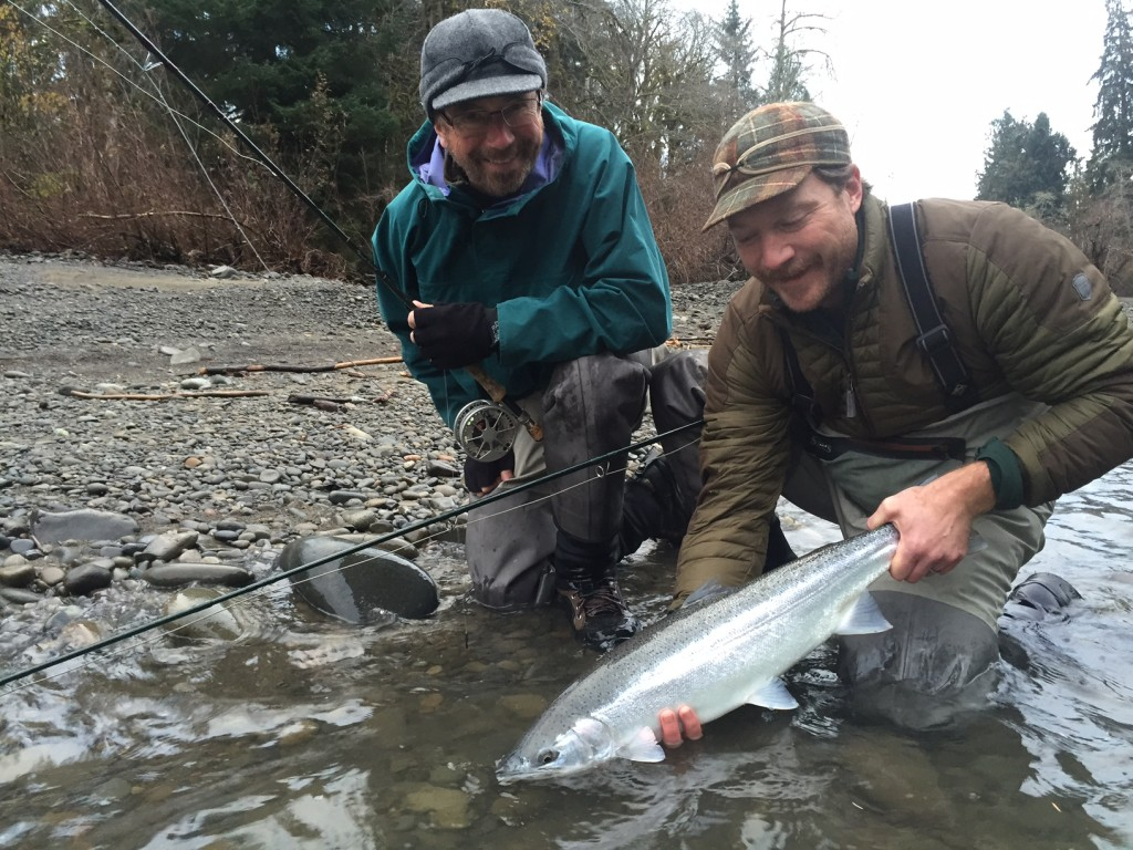 Karsten and his Dad come out on a high water day and did just fine.