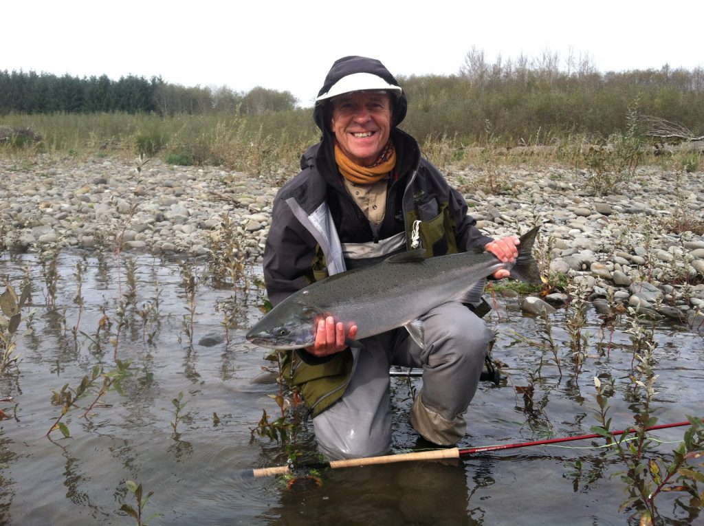 Fall salmon make for a great chance to put a bend in your spey rod