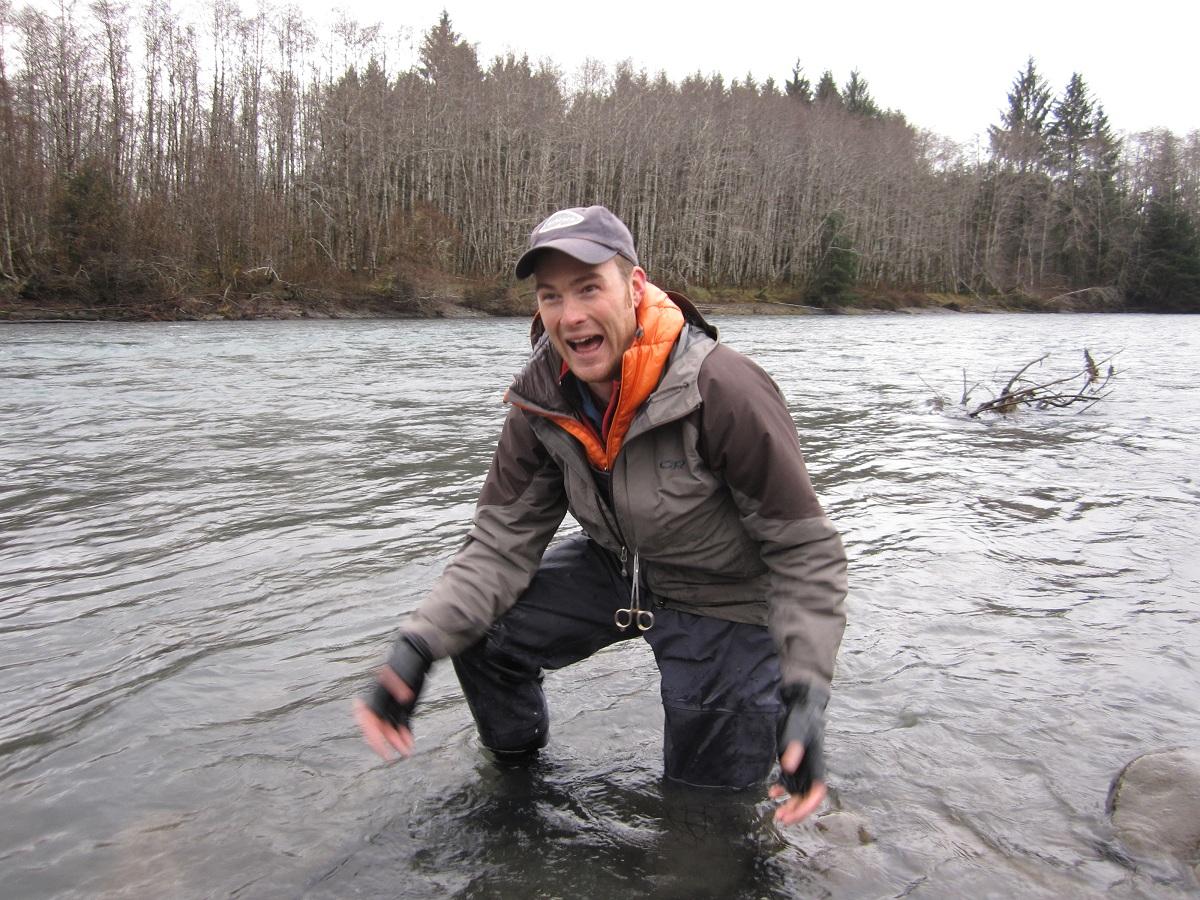 Winter steelhead fly fishing fishing report for Hoh river fishing report